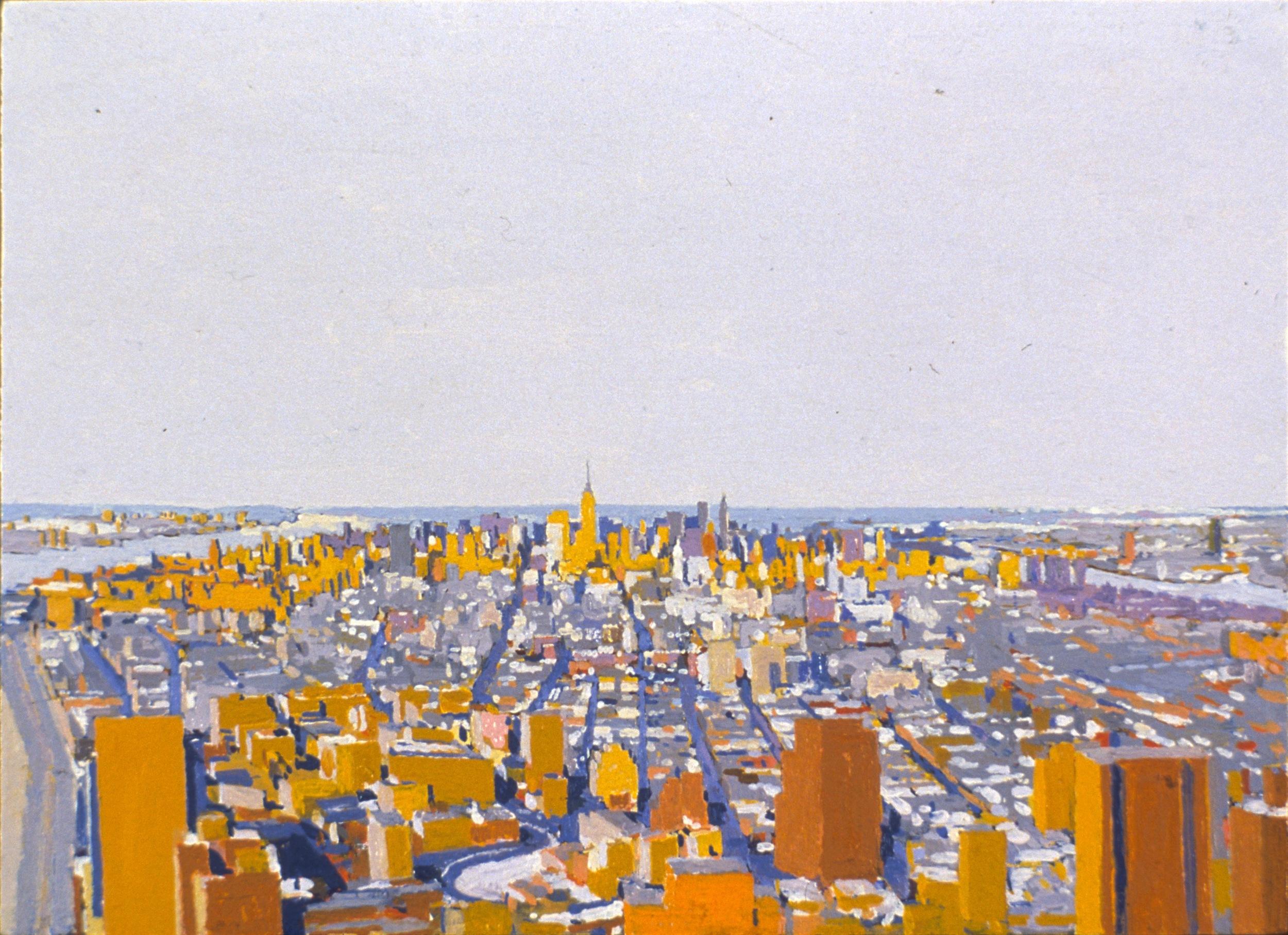Manhattan III, 1998, oil on panel, 8 x 11 inches
