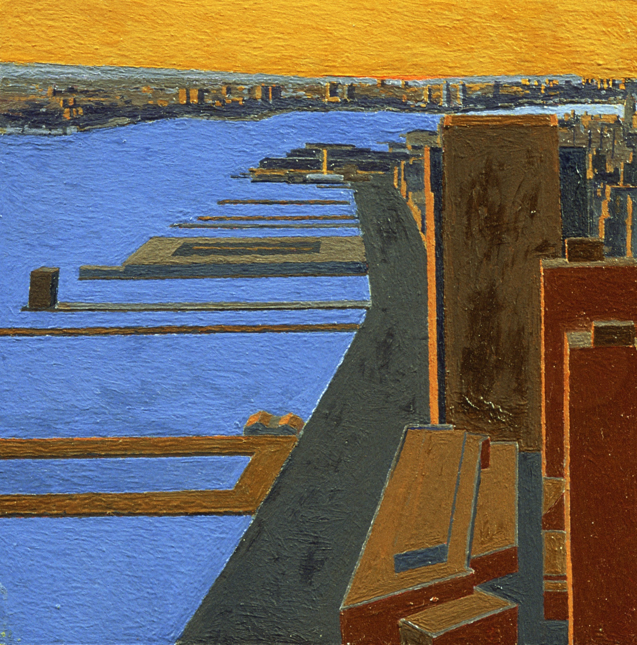 Hudson II, 1997, oil on panel, 9 1/2 x 9 1/2 inches