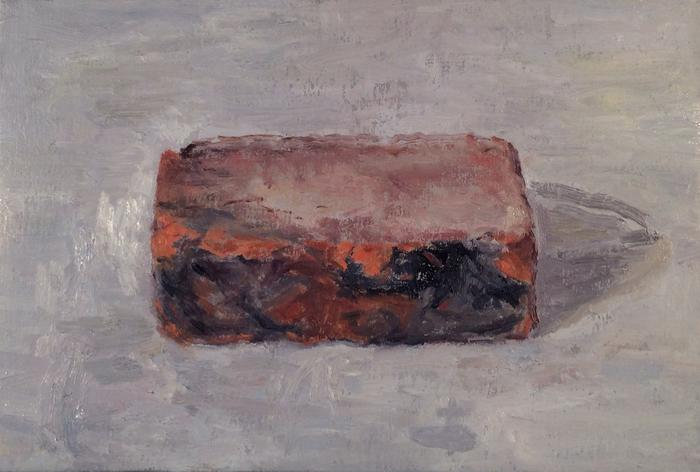 Brick,  2014, oil on linen, 8 x 13 inches     Benefit Auction for the New York Studio School    October 23, 2014