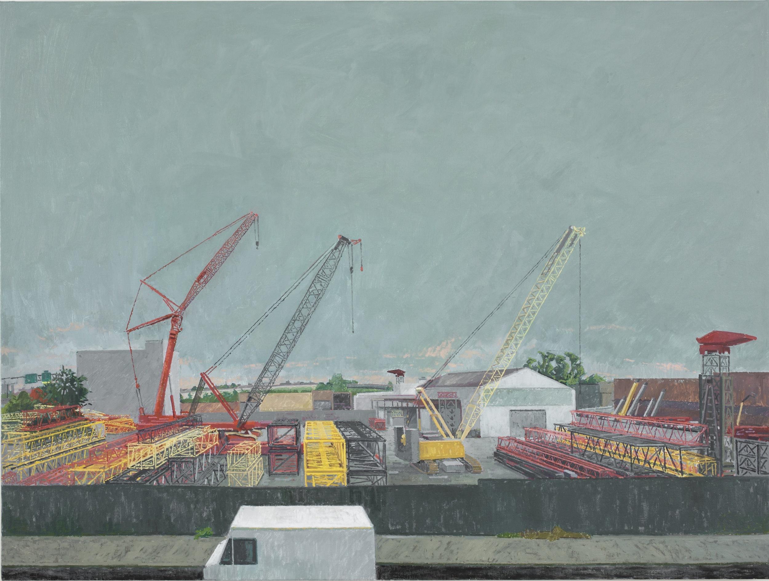 Three Cranes, 2012, oil on linen, 30 x 40 inches