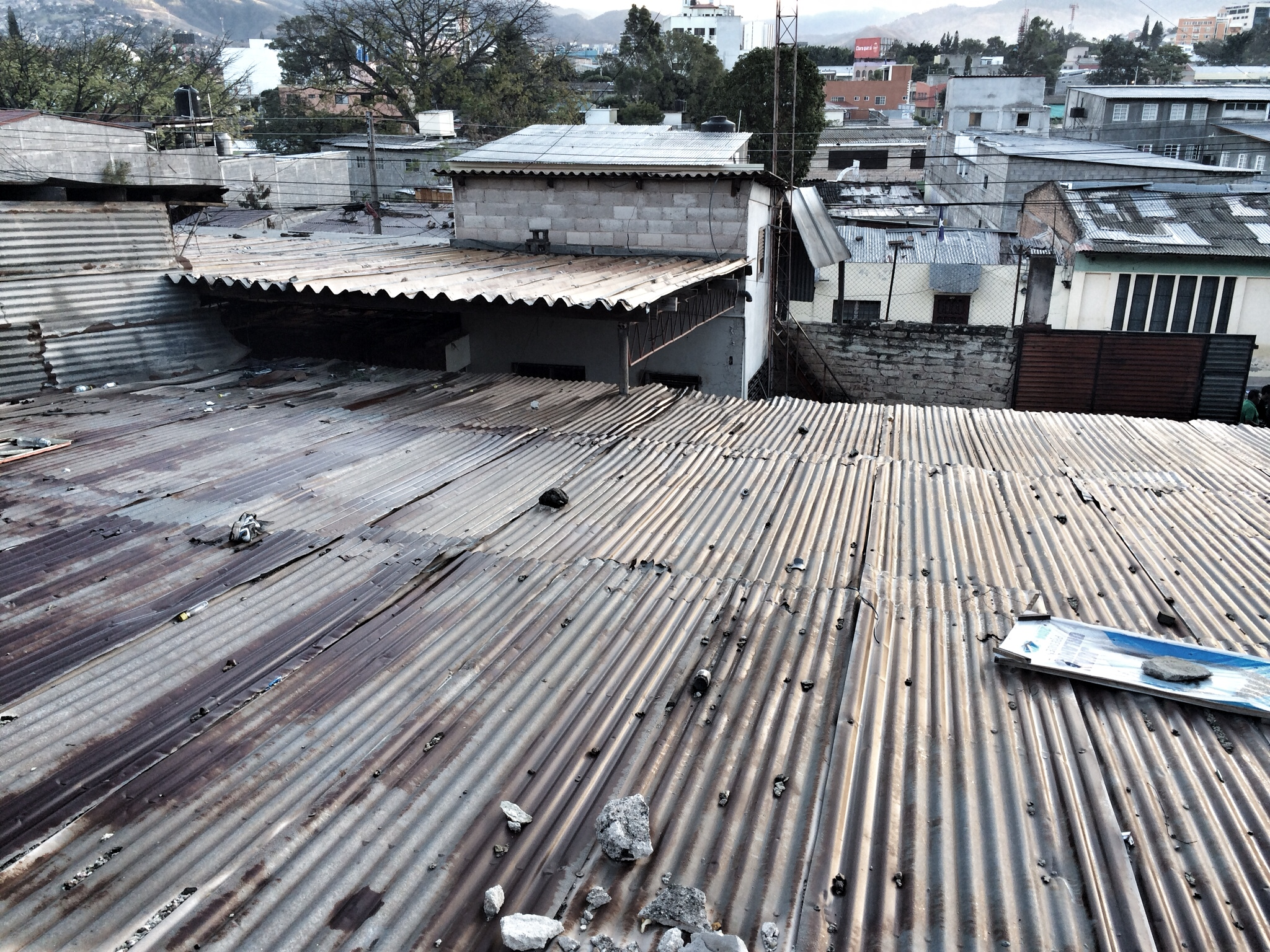 Tegucigalpa Rooftops on the Way to the Stadium