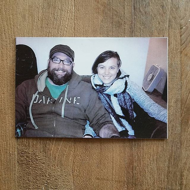 This photo makes me smile! Thought I'd share it since we never post pictures of us. Thanks Arden! - www.theobjectstudio.com - #theobjectstudio #polaroid #photo #portrait #goodone #2017 #us