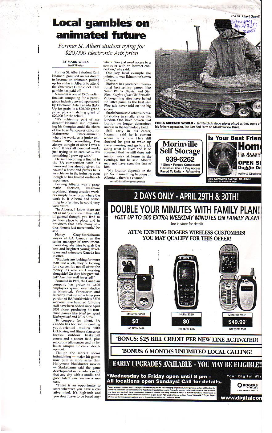 Newspaper Mention Saint Albert Gazette 2.jpg