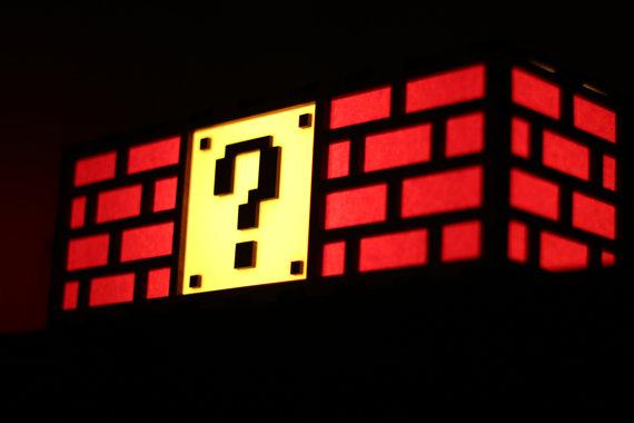 Nintendo Mario Brick lamp 2