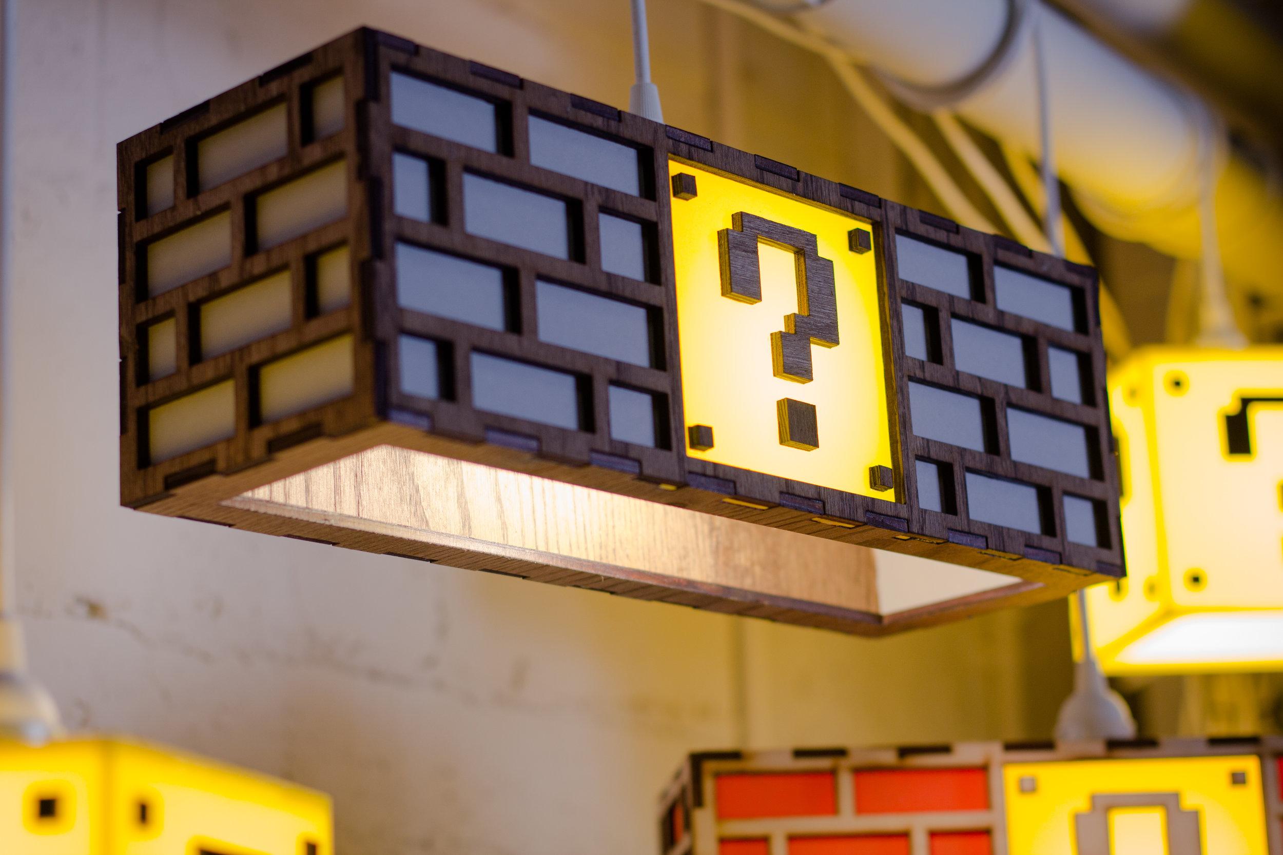 Nintendo Mario Brick lamp gray 2