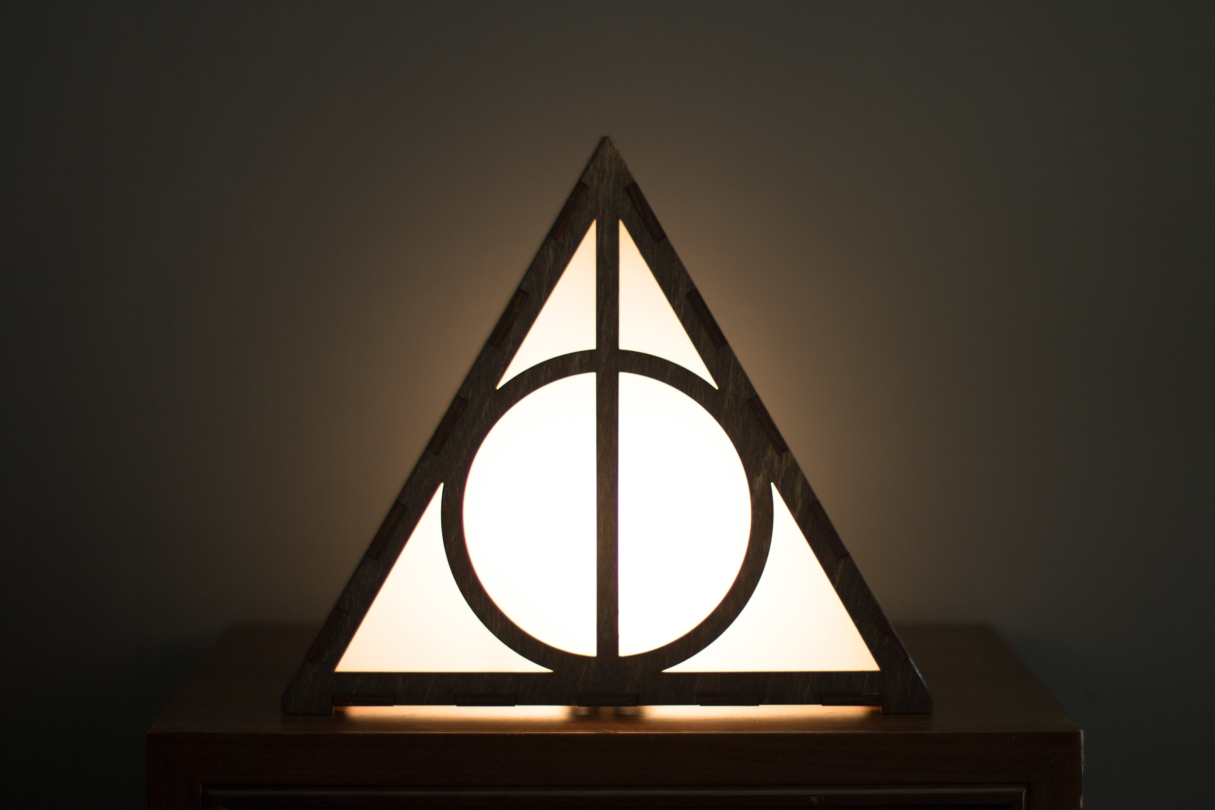 Deathly Hallows lamp 1