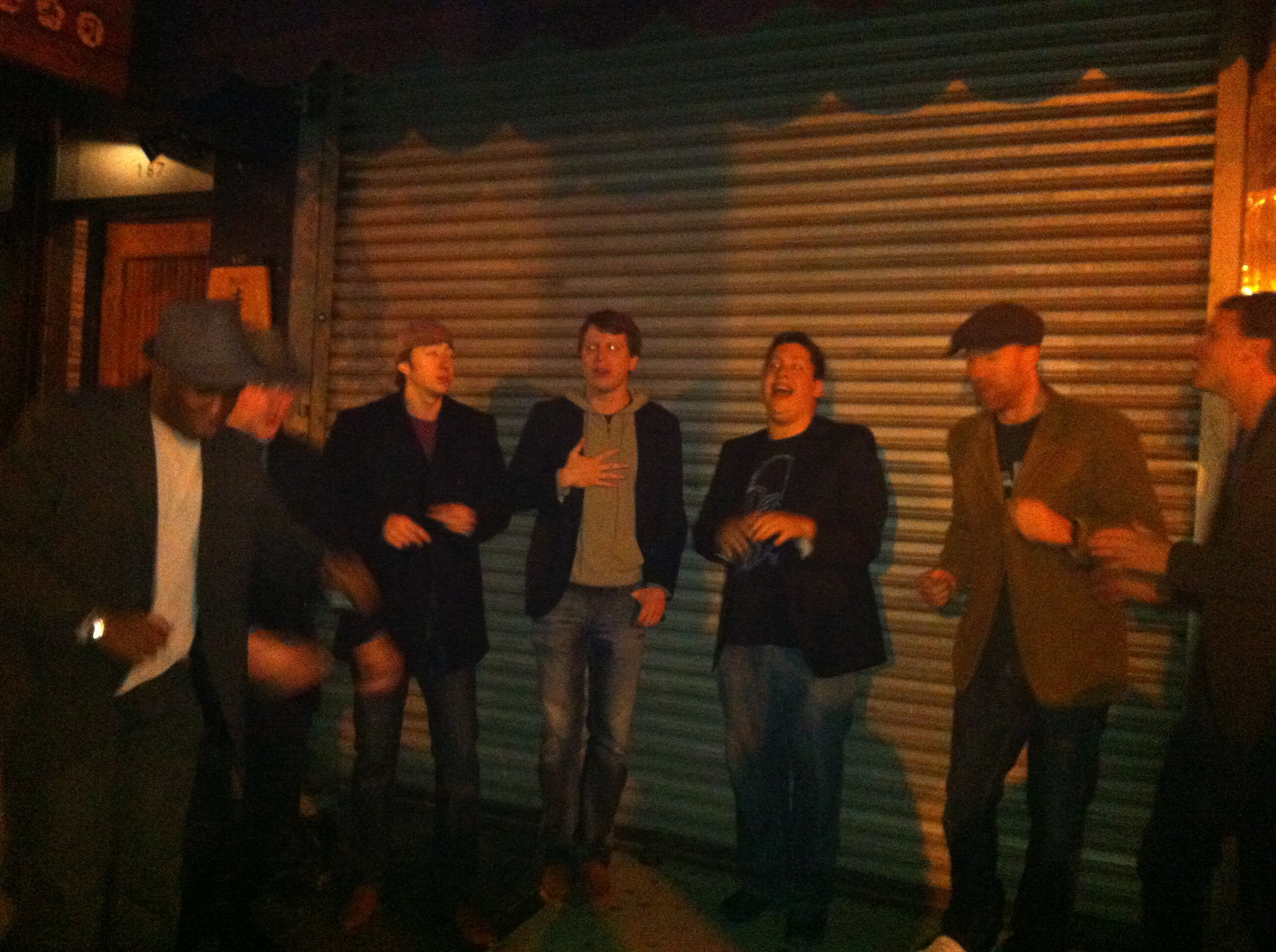 Street Performance After Performing at Rockwood Music Hall