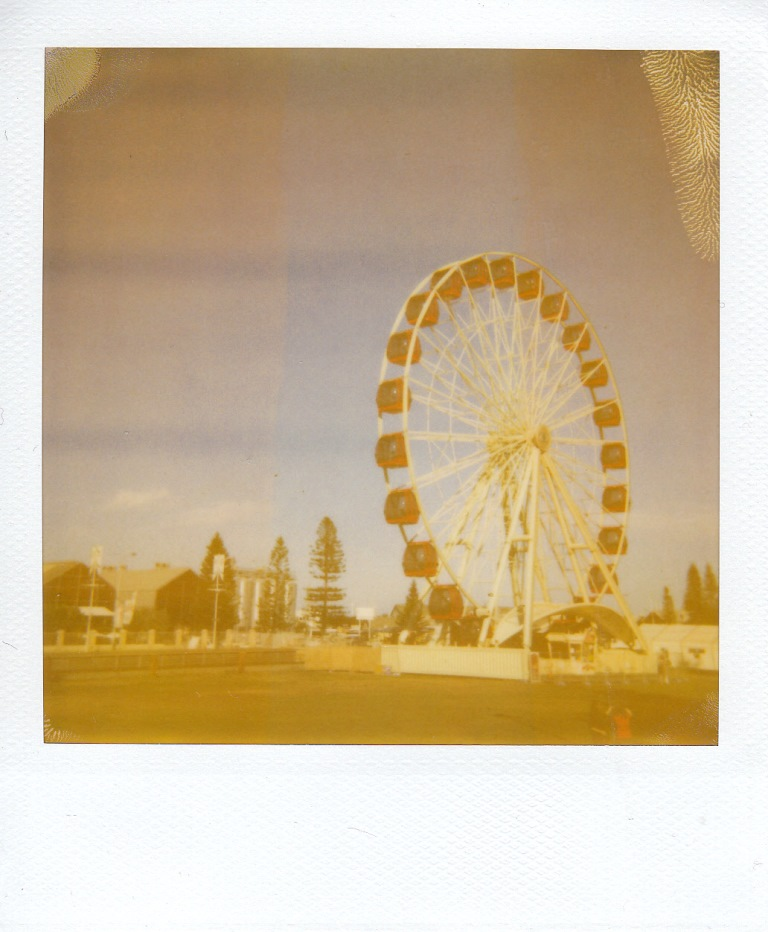 Taken with original (expired) Polaroid film on a normal sunny day. The change in sensitivity if evident in the detail present. With the Impossible Project film this would be a very different image (and probablyimpractical without a filter)