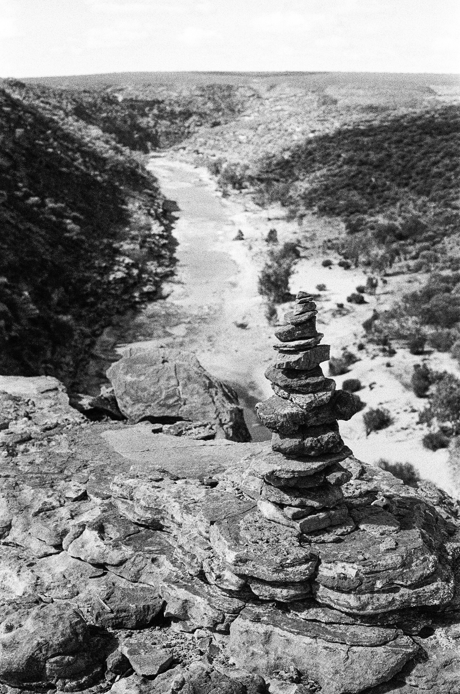 Stacks of stones dotting the gorges at Kalbarri
