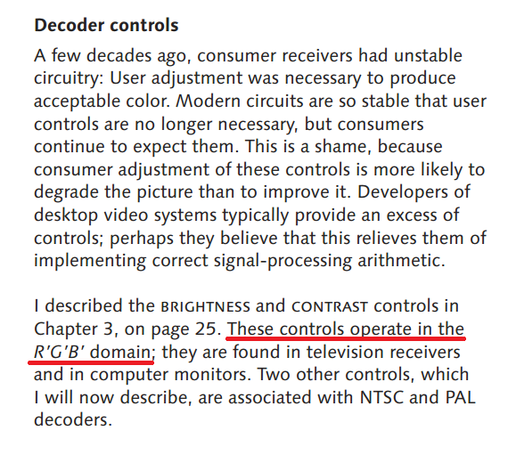 Taken from  Digital Video and HDTV: Algorithms and Interfaces (1st Ed.)  by Charles Poynton - Page 346