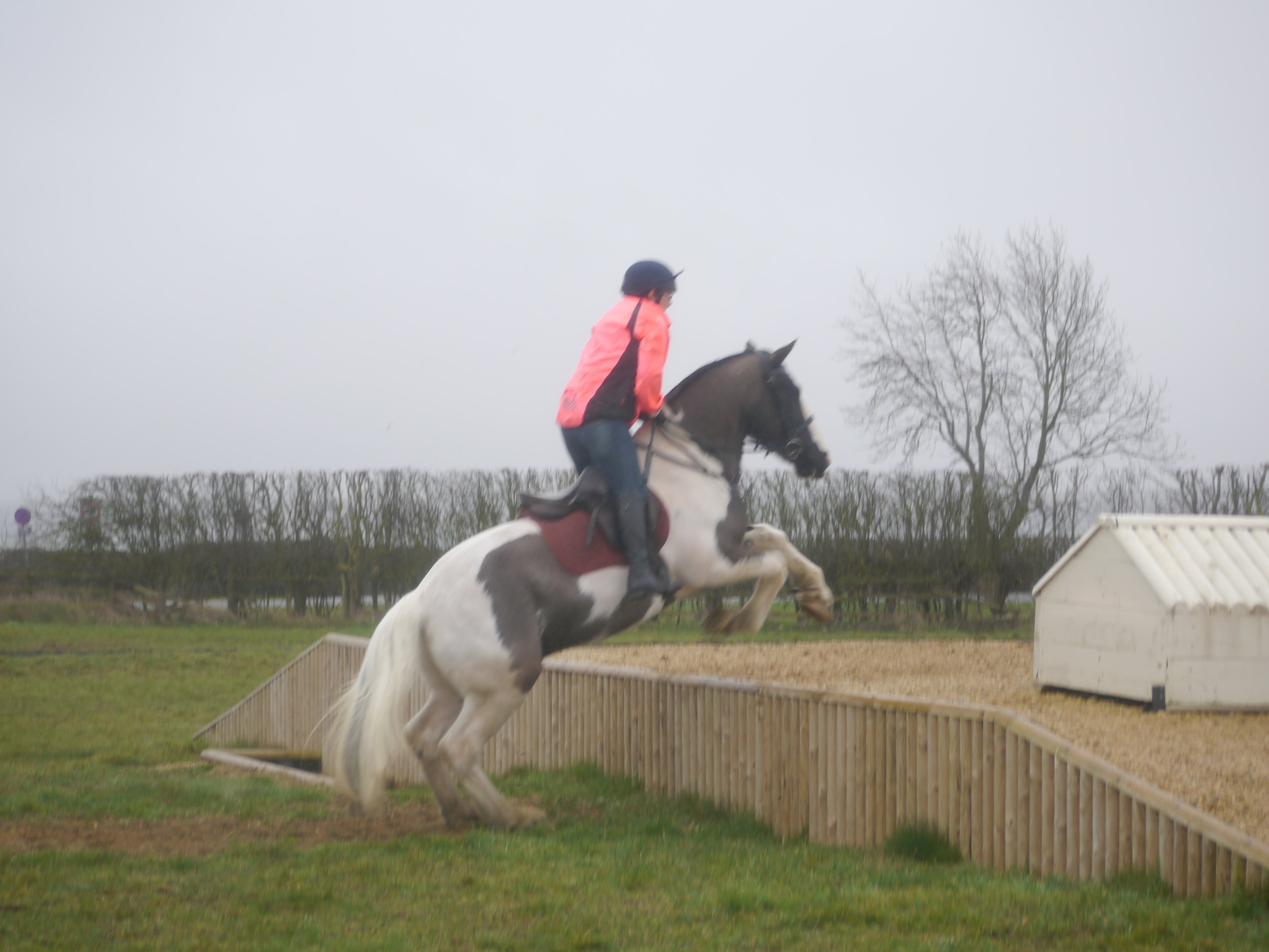XC training 3 March - Vicky and Archie