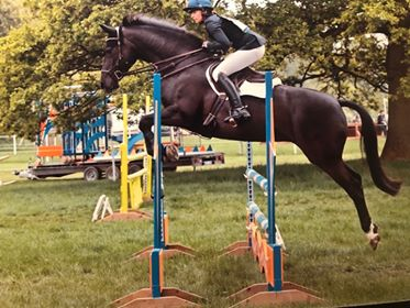Kelly Hetherington and Minnie jumping in the 100 cm class at BRC show jumping competition at Rockingham Horse Trials in May. They were one of the few combinations who went clear!!