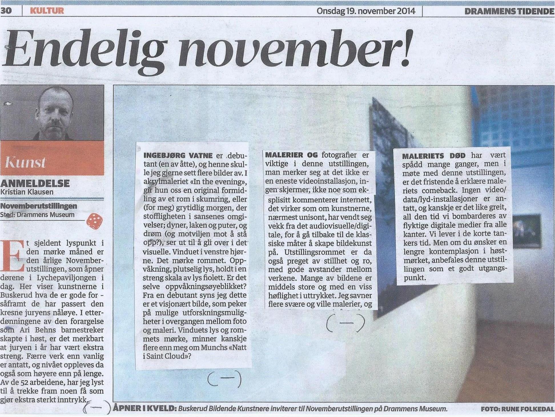 Novemberutstillingen 2014, Buskerud Bildende Kunstnere