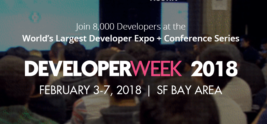 """DeveloperWeek 2018 is the world's largest developer expo and conference series with over 8,000 participants across the DeveloperWeek 2018 Conference & Expo, the DeveloperWeek Hackathon, Official Hiring Mixer, andcity-wide partner events.  DeveloperWeek puts the spotlight on new dev technologies. Past event hosts and supporters of DeveloperWeek include  Google , Oracle ,  Facebook ,  Yelp ,  Rackspace ,  IBM ,  Cloudera ,  Red Hat ,  Optimizely ,  SendGrid ,  Blackberry ,  Microsoft ,  Neo Technology ,  Eventbrite ,  Klout ,  Built.io ,  Ripple ,  GNIP ,  Tagged ,  HackReactor , and dozens more!  Because DeveloperWeek covers all new dev technologies, our conference and workshops invite you to get intro lessons (or advanced tips and tricks) on technologies like HTML 5,Python, Javascript, Robotics Dev, Data Science and Machine Learning.   2018 Theme: The Industrial Revolution of Code   It's not just tech companies who are re-positioning themselves as software-centric. Fortune 500 consumer brands, banks, traditional equipment manufacturers, and car makers are all pivoting away from being just a 'Company' to being a 'Software Company'. In other words, coding and software innovation is not just for silicon valley – every corporation in america is joining the """"Industrial Revolution of Code"""". The more software and the cloud integrates with consumer goods, transportation, hardware, etc – the more we will see innovation move from 'manufacturing' to 'coding' – no matter the industry.  How you can get involved  LEARN  Attend 200+ workshops, bootcamps, panel talks, and keynotes covering all new dev technologies.  HIRE  Get in front of 1,000+ hirable developers, engineers, and designers and San Francisco's largest tech hiring mixer.  HACK  Join a team or sponsor the hackathon where hundreds of developers will build web and mobile apps that solve real-world crowd-voted challenges!  HOST  Add your event to our DeveloperWeek 2018 calendar or talk to us about event marketing packages"""