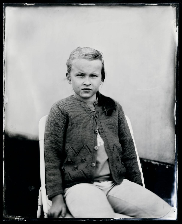 Anneline Friis Østergaard, tintype, 8x10.
