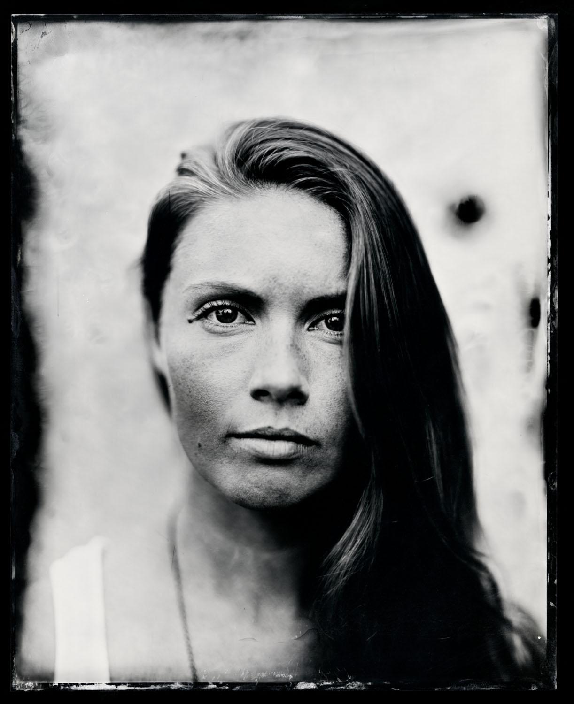 Kendel Carson, tintype, 8x10.