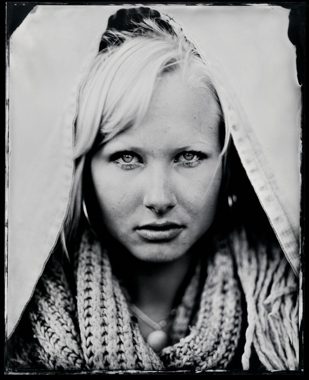 Maimi Mirbach, tintype, 8x10.