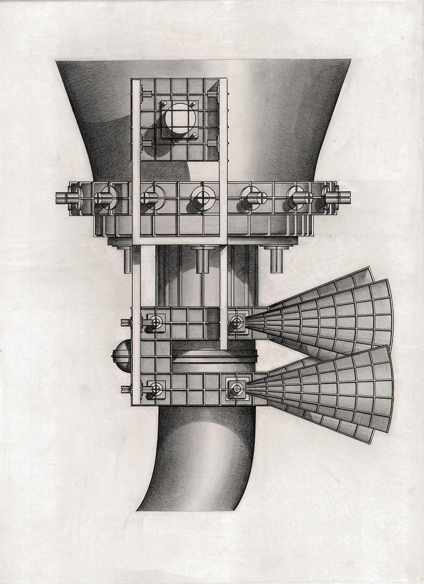 """Horn detail 'Spirit', 18""""x24"""""""