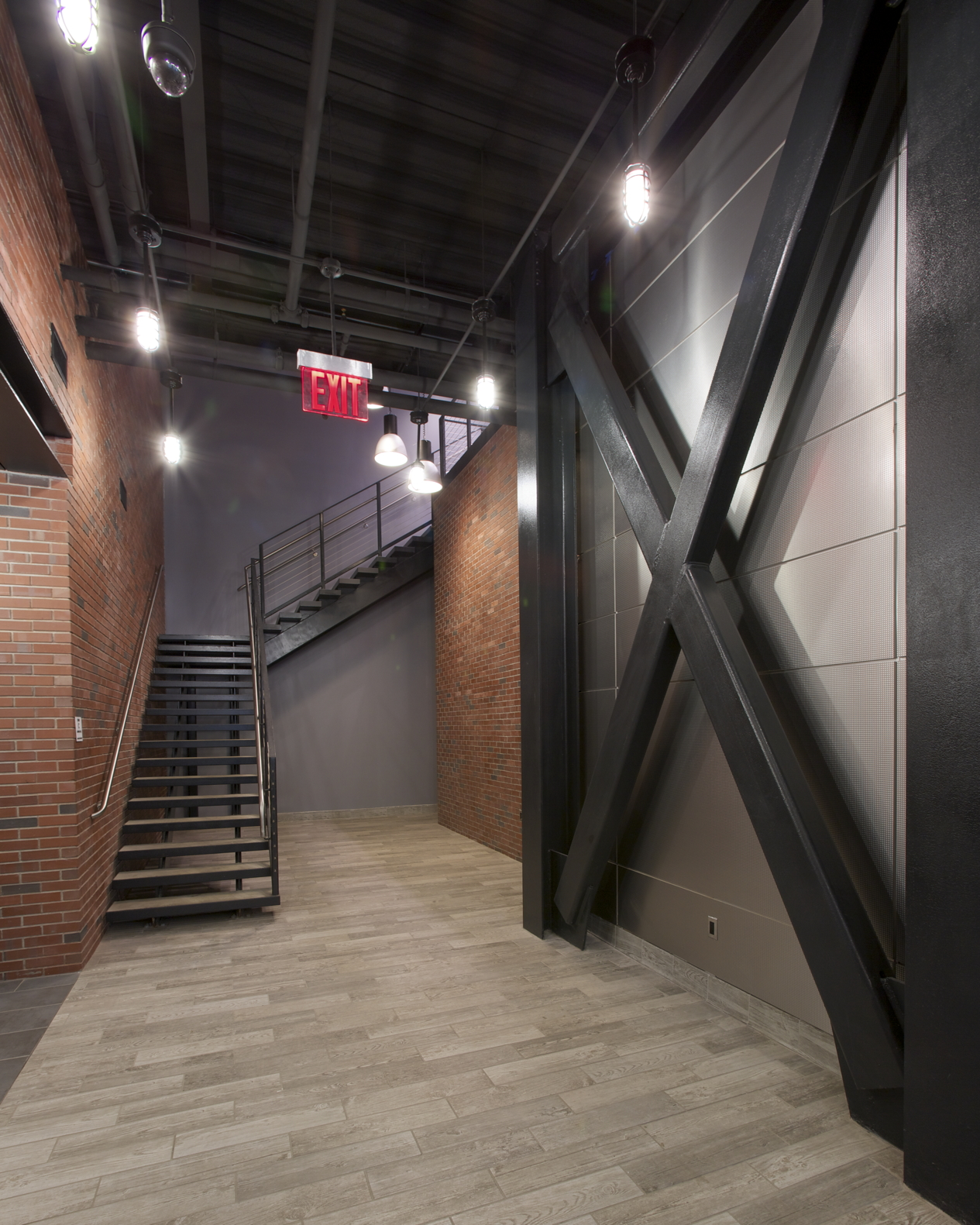 Lower Lobby view towards Stair - Photo courtesy of client
