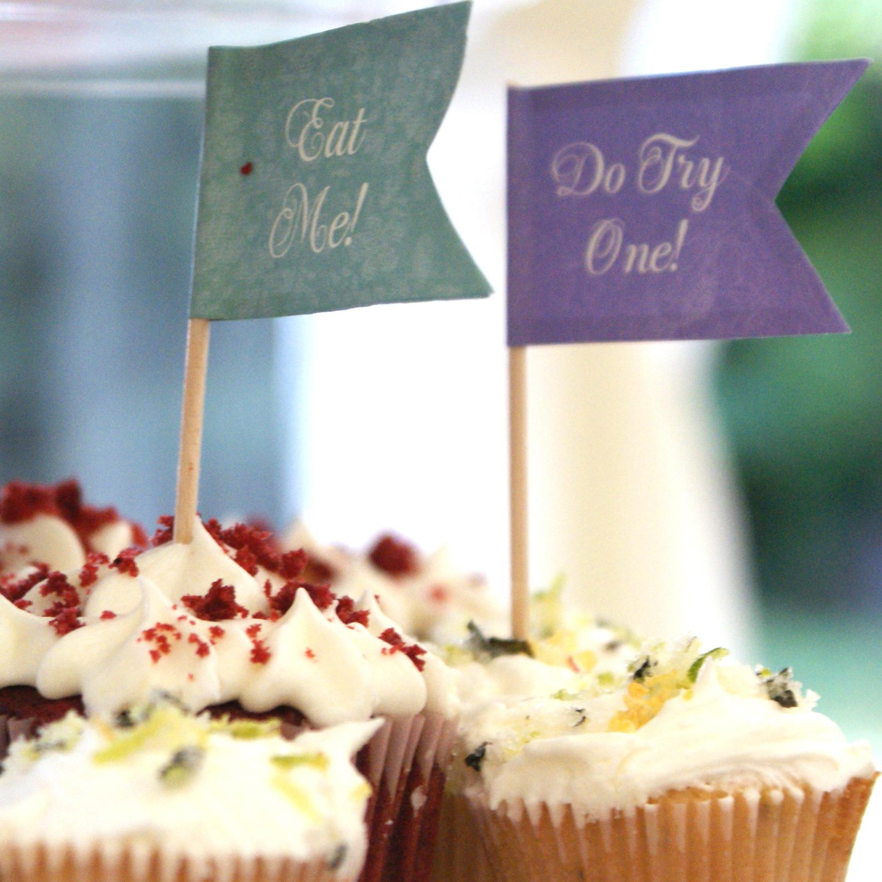 Mini Moijito and Mini Red Velvet Fairy Cakes