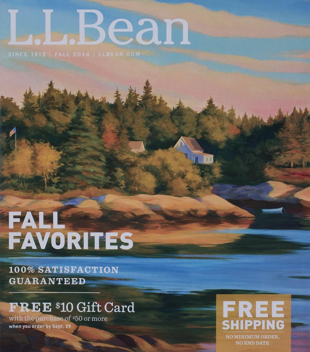 L.L. Bean Cover  Fall Catalog 2014