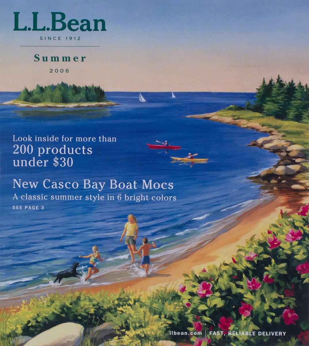 L.L. Bean Cover  Summer Catalog 2006