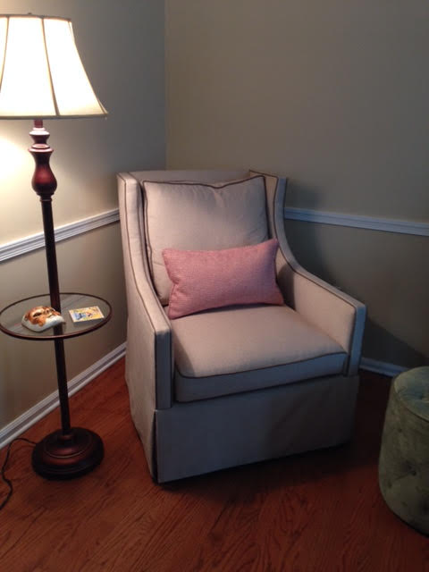 Oh-so-perfect reading chair, Bucks County, PA