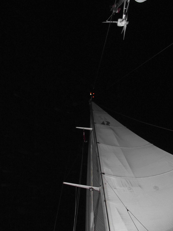 Night Sailing - Alcyone from Virgin Gorda to Florida - June night 2013