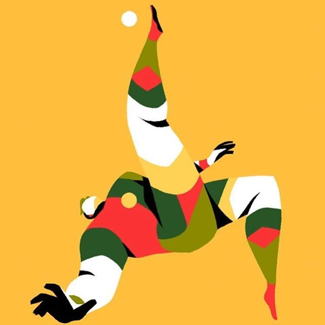 Great illustration work by @rmayani . . . #sports #soccer #flat #illustration #4color #graphicdesign #digitalart #branding #marketing #documentowls