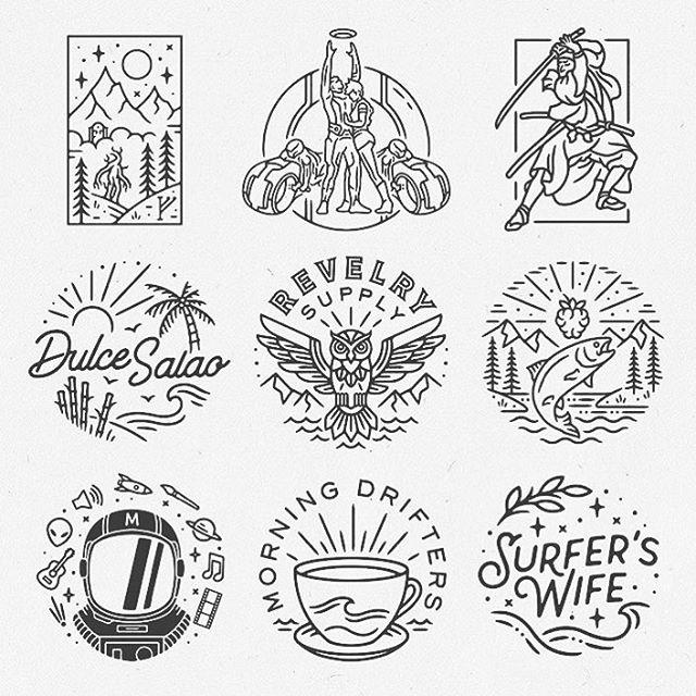 Very cool logos designed by @liamashurst . . . #logo #badge #graphicdesign #typography #branding #illustration #graphics #print #marketing #business #documentowls
