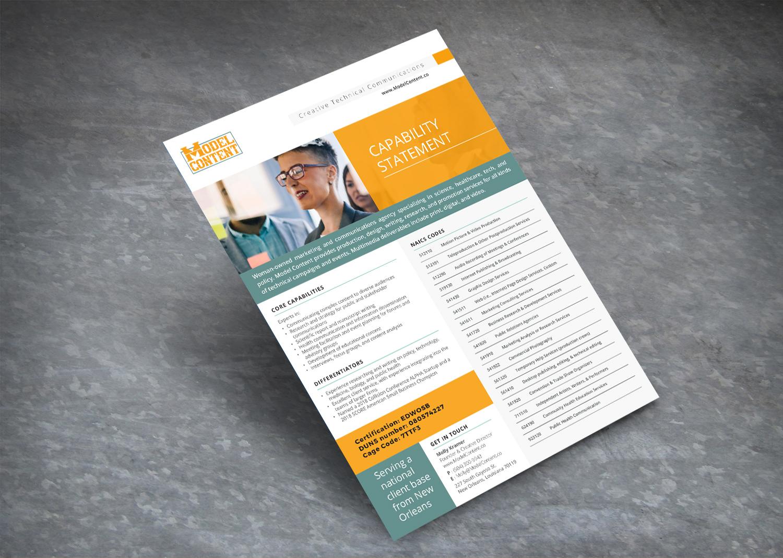 Model Content  Flyer Design