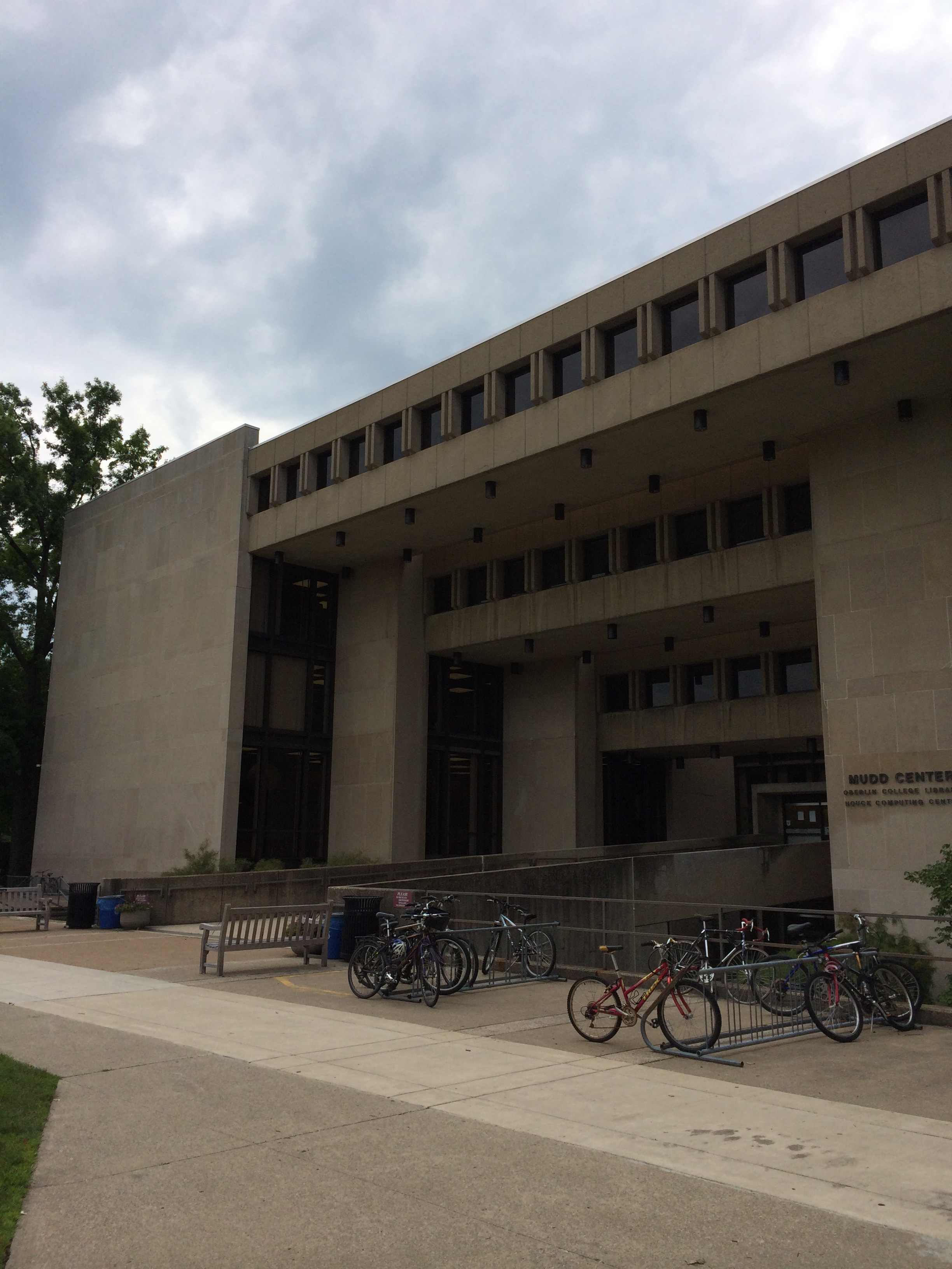 Mudd Library, the finest in brutalism
