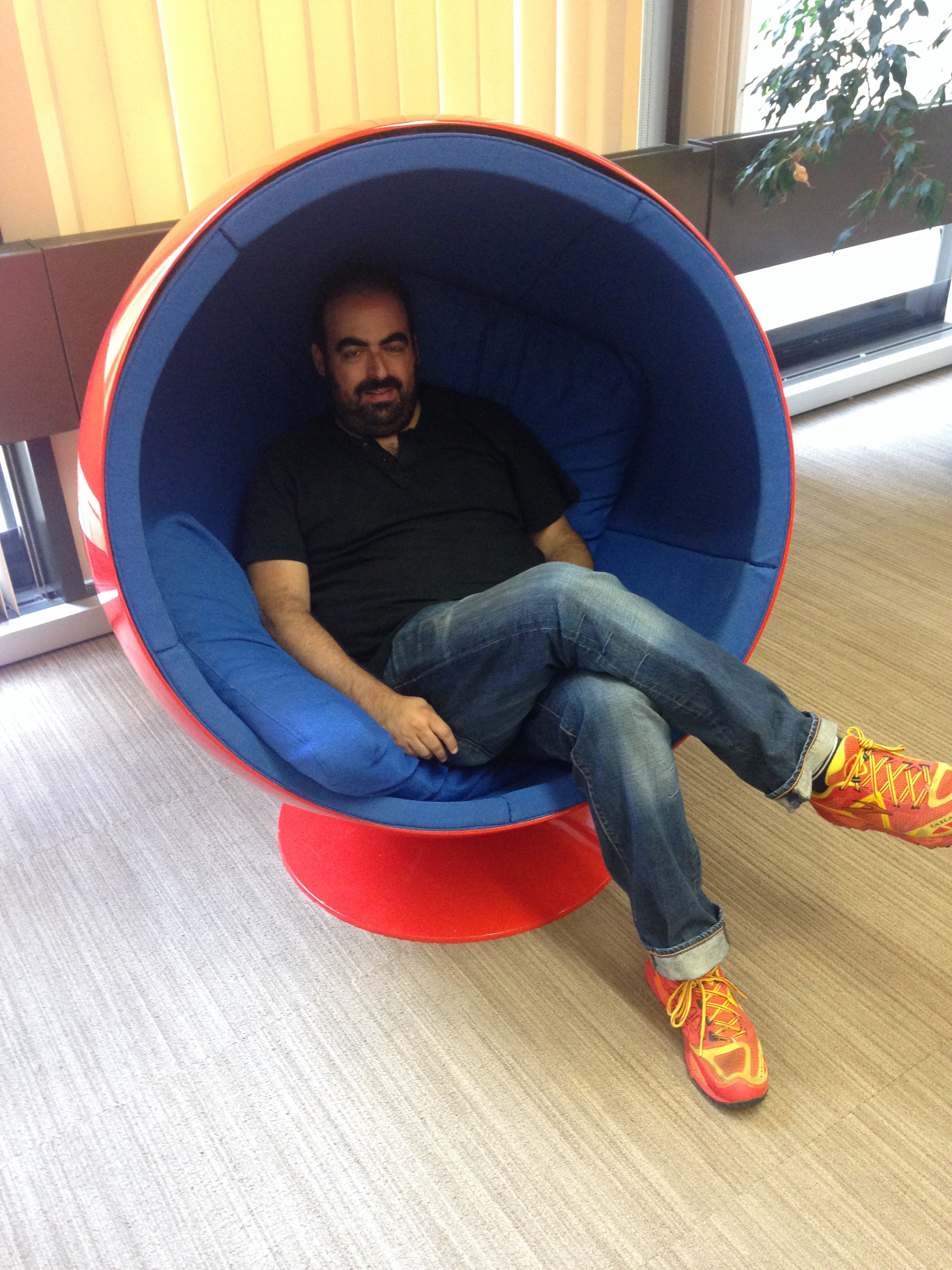 """Generations of obies have called these """"womb chairs"""".  It's a """"Ball Chair""""."""