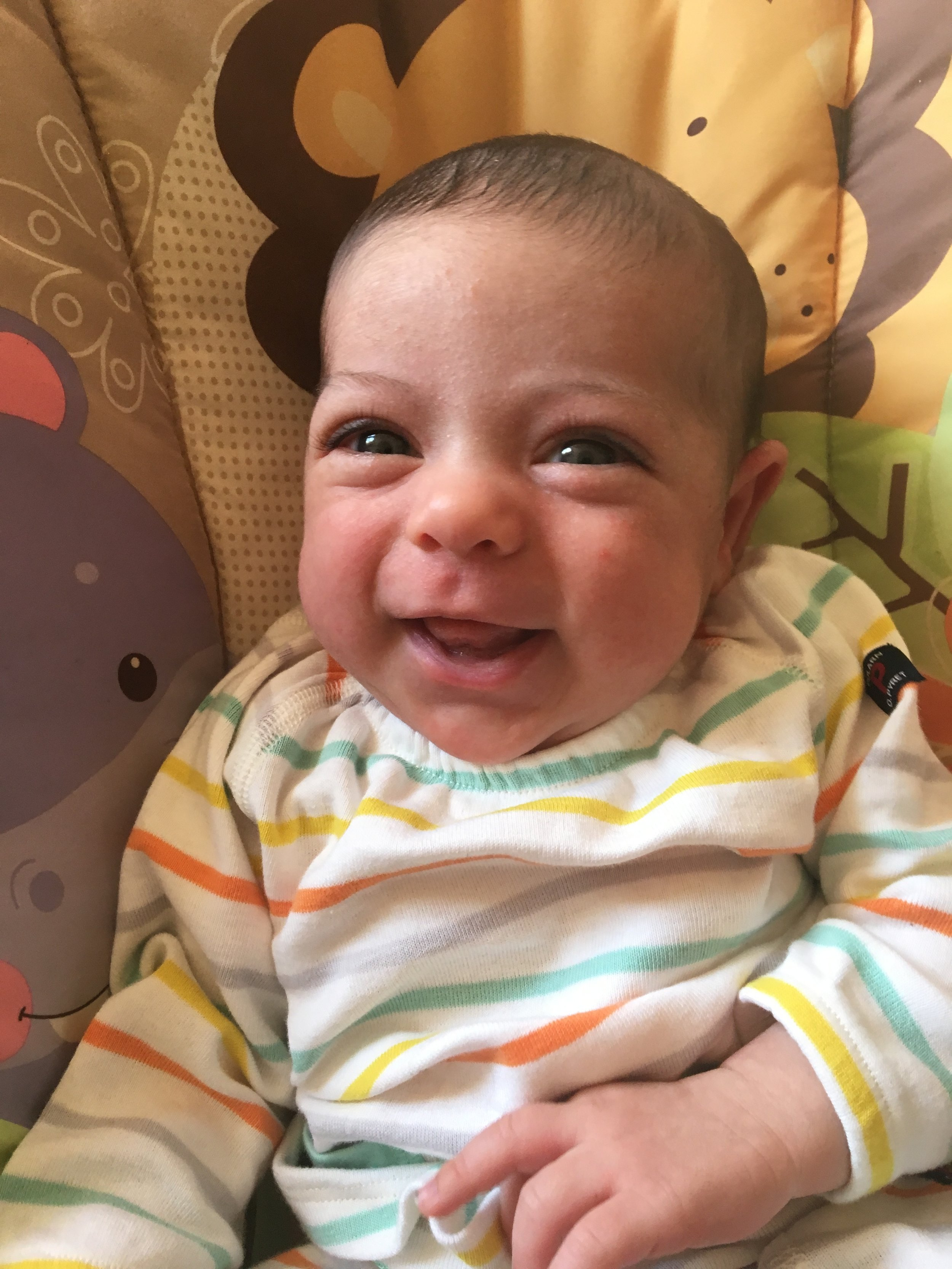 First smile caught on camera!