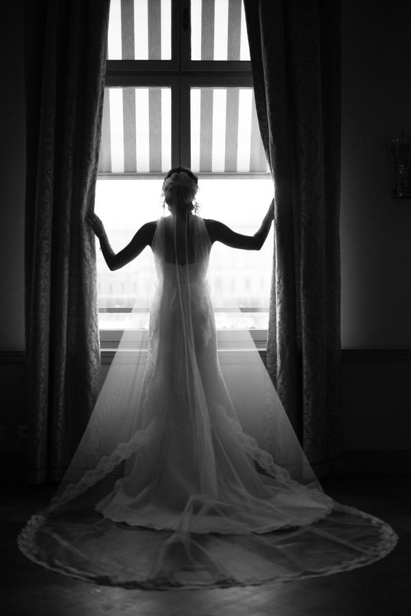 Bride in a window