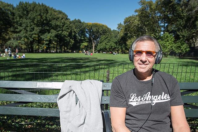 . 🇺🇸 New York, Central Park 👉🏻 Oct, 2015 .  Hey man, what are you listening to? - Aerosmith.  Why Aerosmith? - I took a spinning class this morning, they had Aerosmith on, and I downloaded a playlist when I got home.  What song? - Hang on. I DID listen to Aerosmith, but right now it seems to be Lesley West? Oh, well. Good day for relaxing, regardless.  Sure is, fantastic day. Enjoy! - Thanks, nice meeting you. . .. ... #inmyhead #headphones #headphoneson #centralpark #nyc #aerosmith