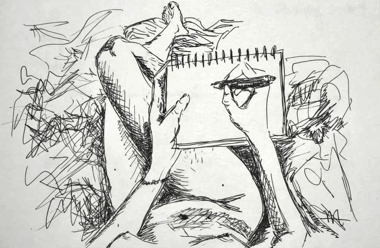 """""""Bedtime sketch"""" Ink, 5""""x7"""""""