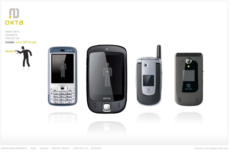OKTAmobile.com Homepage