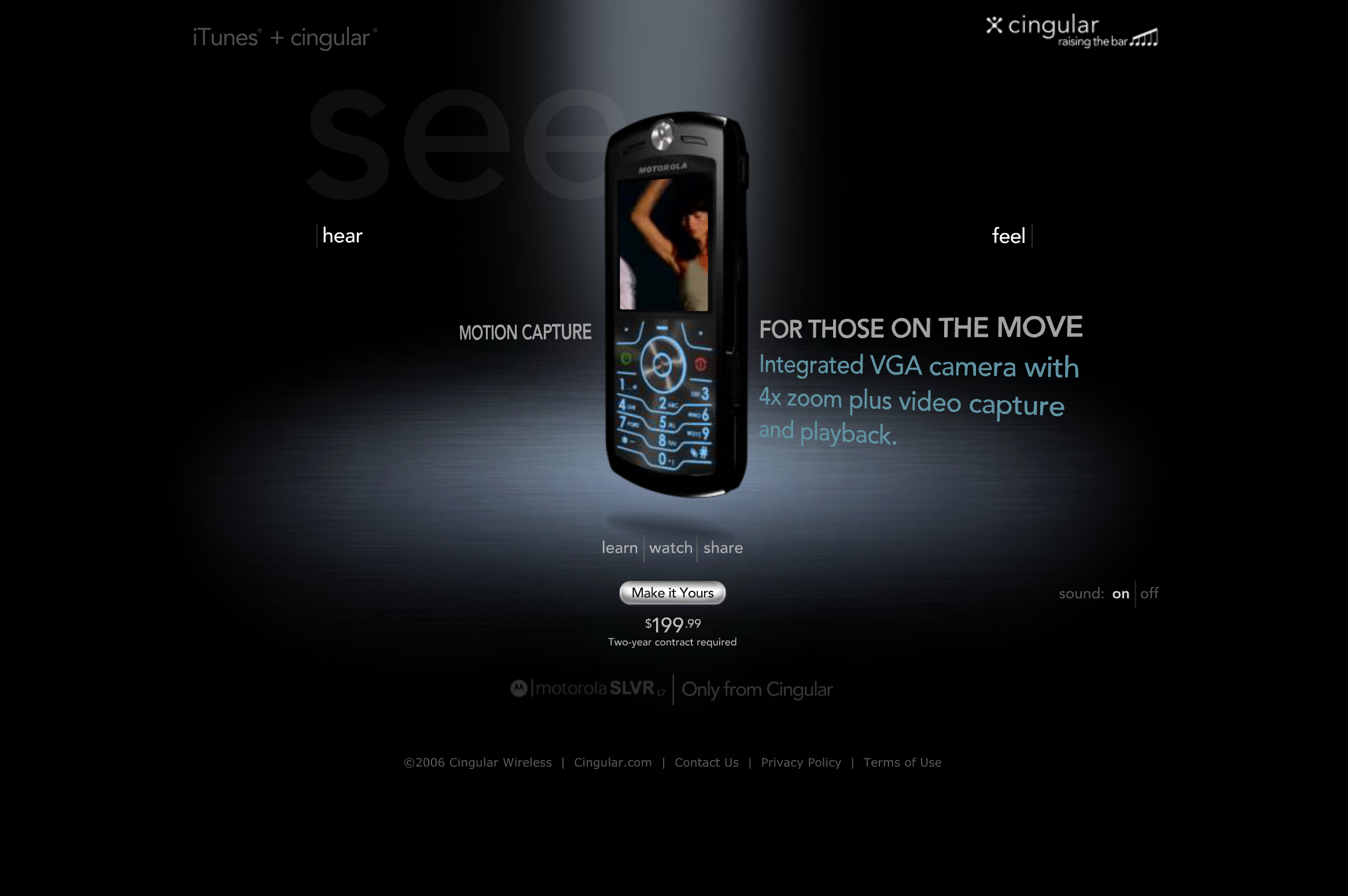 """See"" page, showcasing video"
