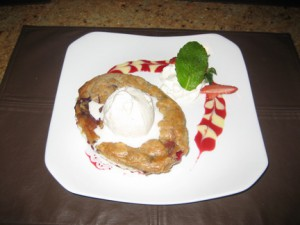 Berry cobbler with strawberries from Plant City.