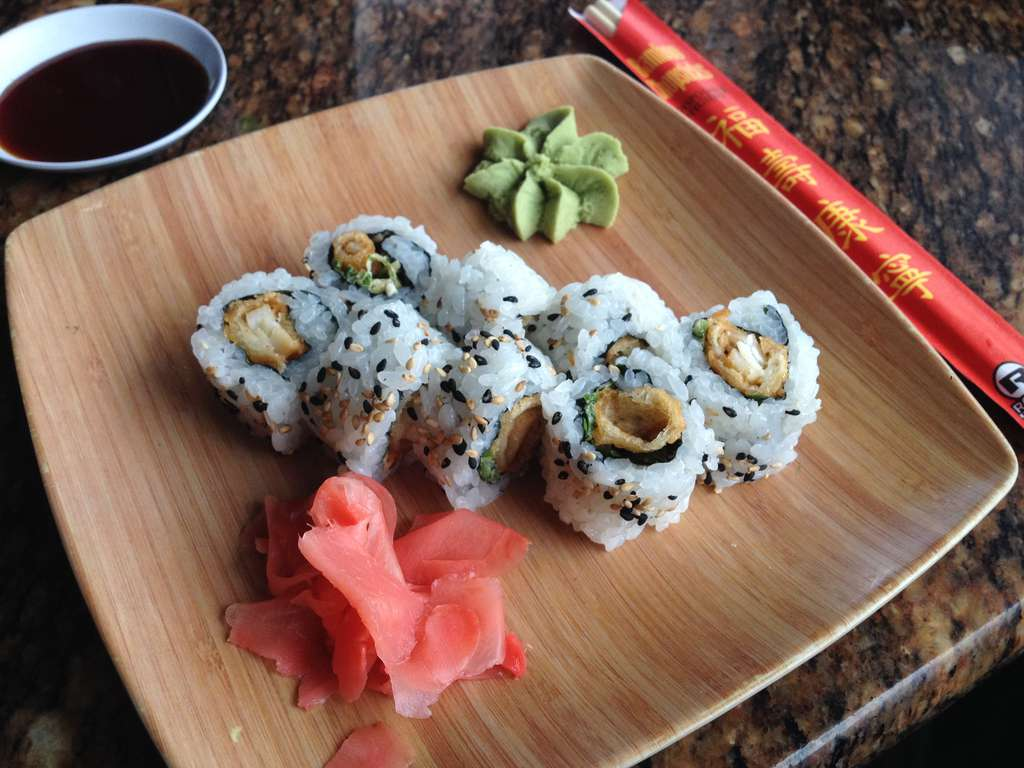 "The Tampa Roll at Jackson's Bistro in Tampa advertises ""Tempura fresh grouper,"" but a DNA test showed that the fish is actually tilapia. (LARA CERRI 