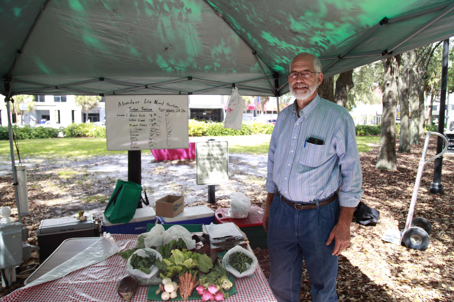 David Goosey farms 1 acre at his Abundant Life Natural Gardens in Plant City. He runs a CSA (community supported agriculture club) and sells at the downtown Tampa market. (LARA CERRI | Times)