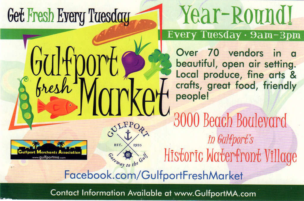 The Gulfport Tuesday Fresh Market touts local produce up high but has nearly none.