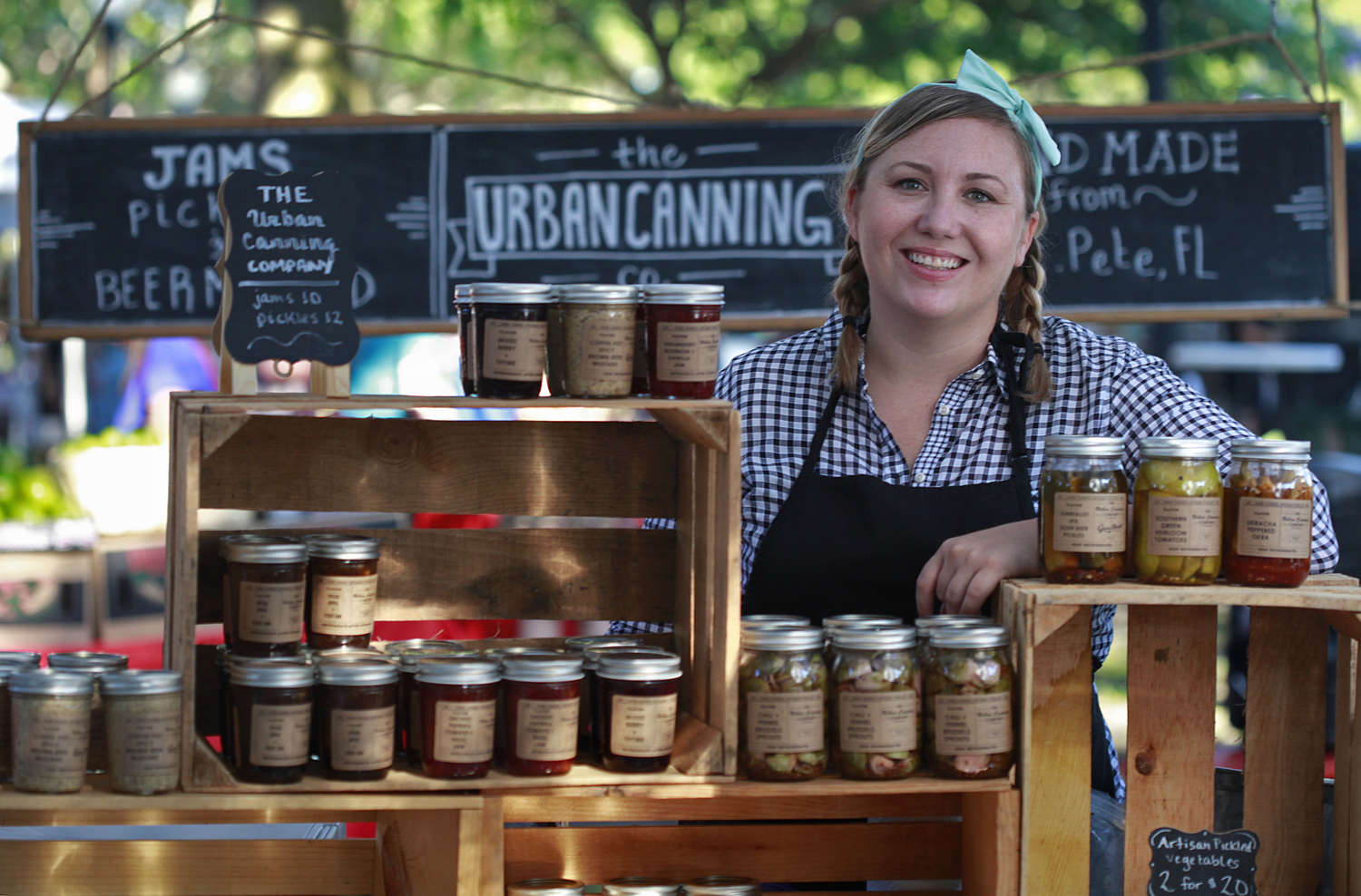Illene Sofranko started the Urban Canning Company out of her kitchen. Using local ingredients, she cans jams, pickled vegetables and mustards in St. Petersburg to sell at outdoor markets and retailers. (LARA CERRI | Times)