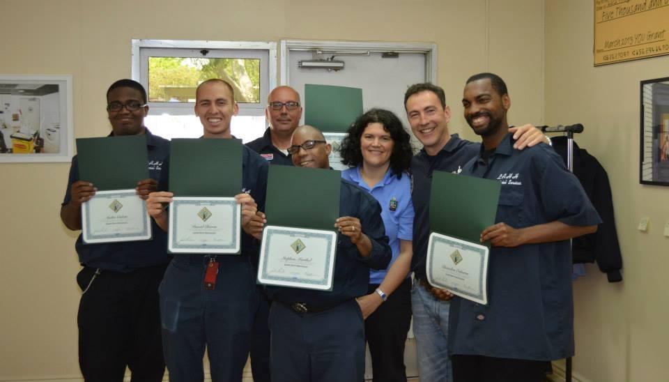 Class 2-13-2014 receive their certificates.