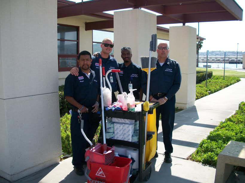 Janitorial Crew at USCG LA/LB Base, CA