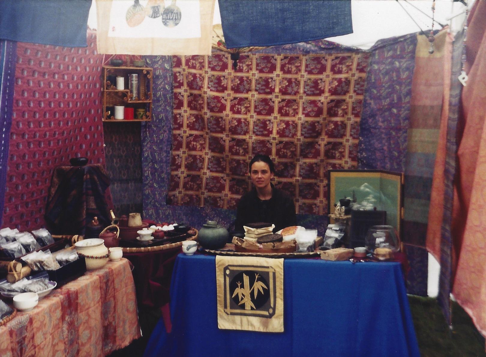 Marilee in the Tea Tent