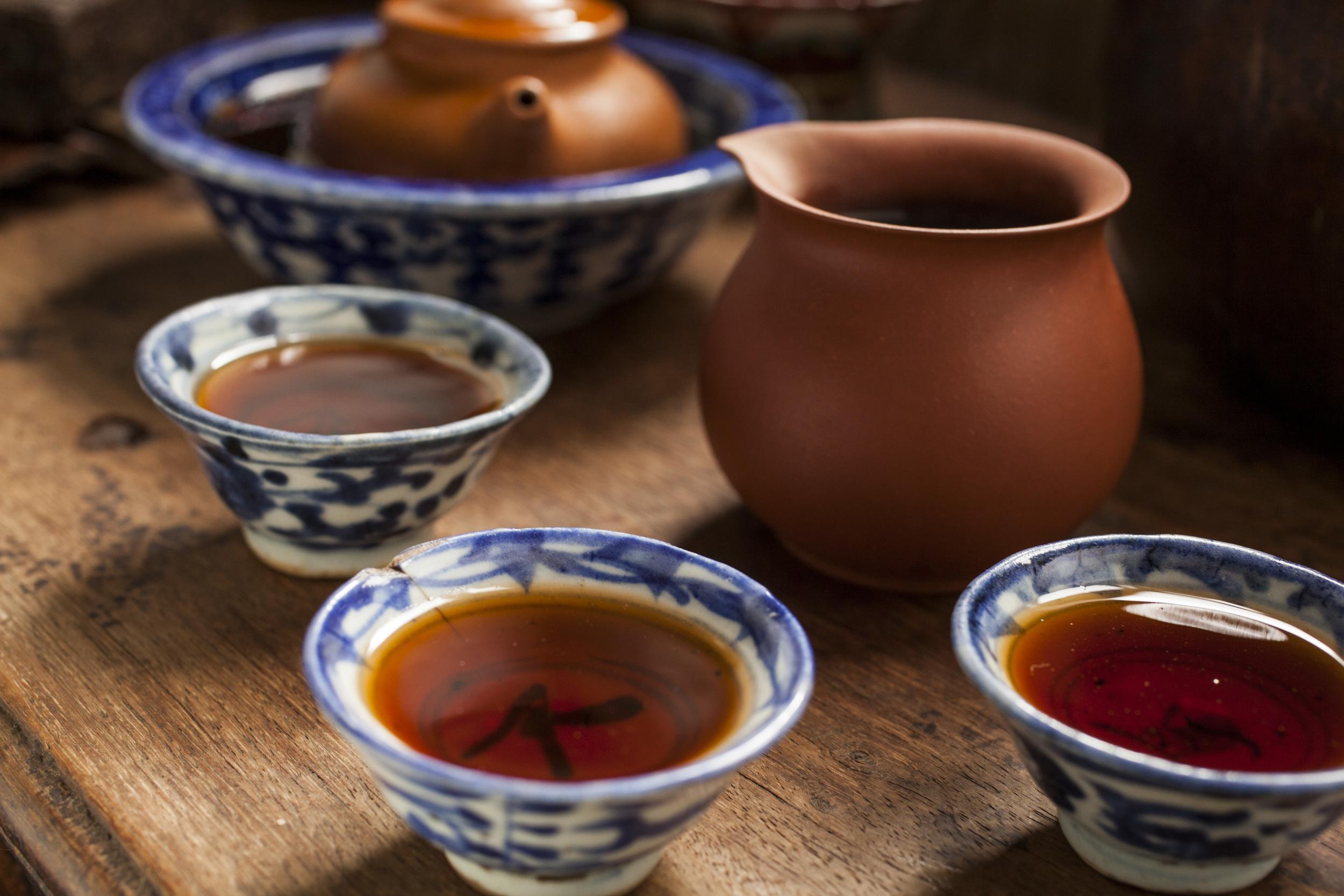provincial blue & white  gung fu  cups