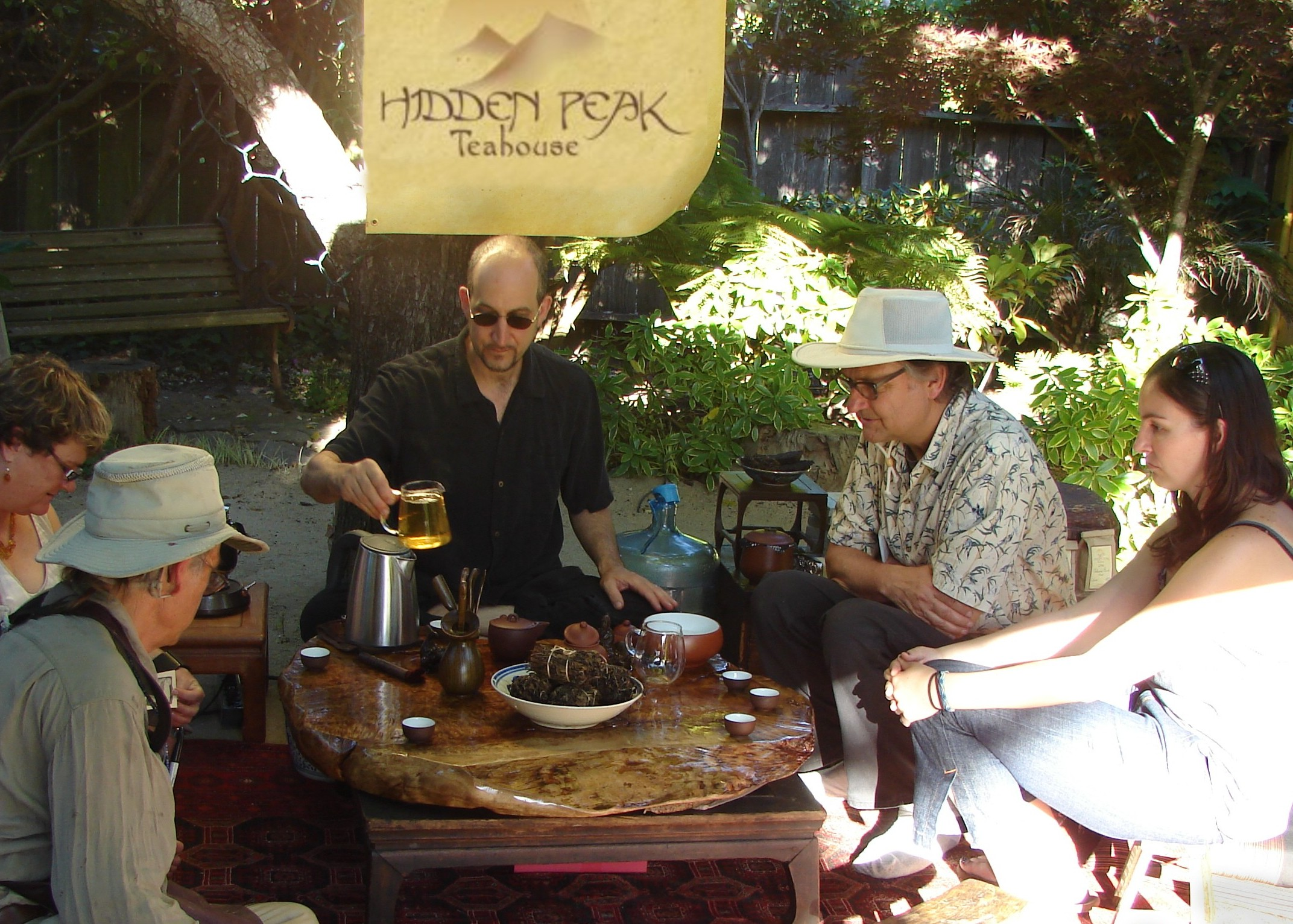 David Wright pouring tea at the  2012 Avant Garden Party  as a fundraiser for  New Music Works .