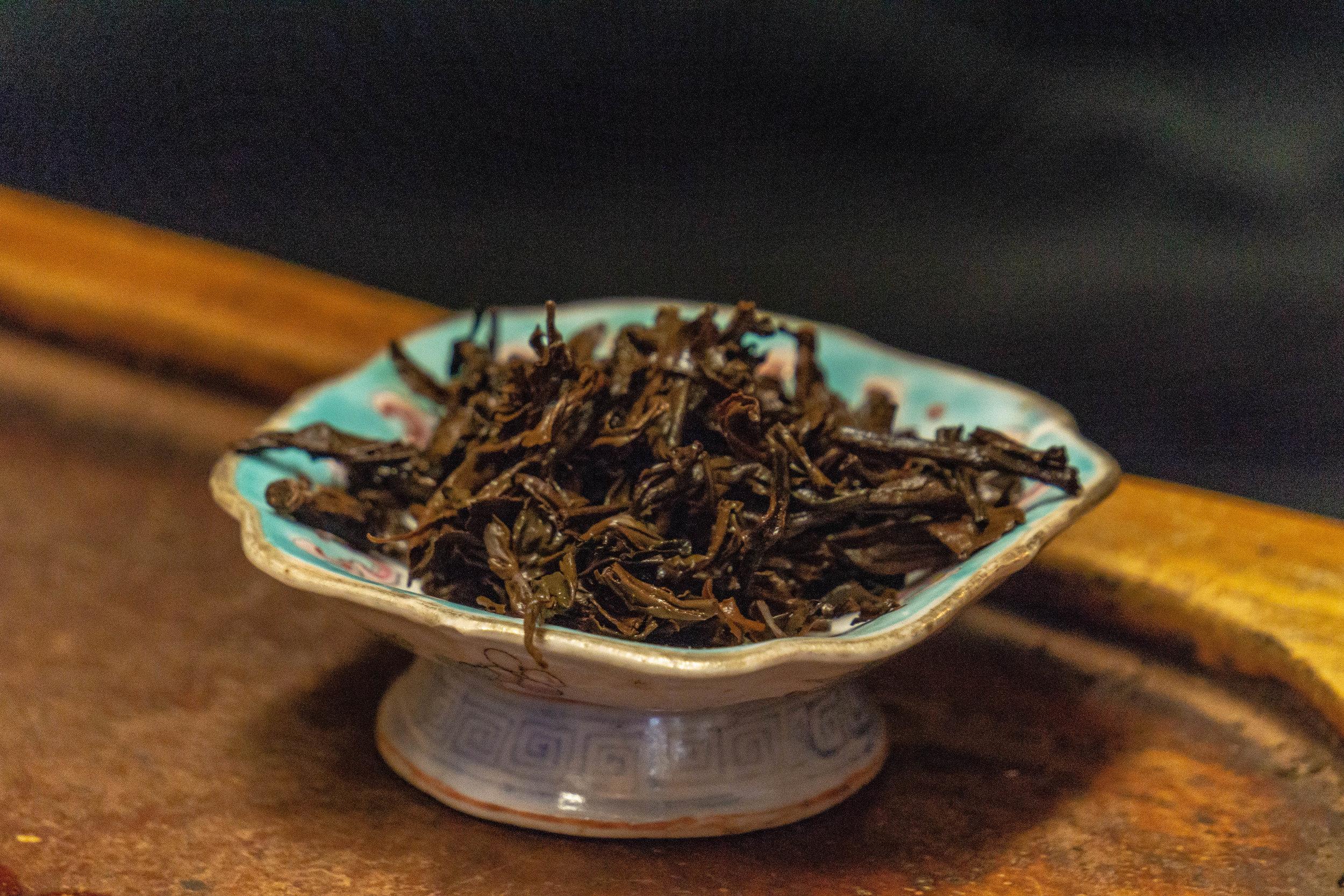 Tea of the month, aged black.  A photo by Dalton Johnson Media,  www.daltonjohnsonmedia.com  or  @daltonjohnsonmedia